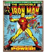 Original Comic Book Series IRON MAN Metal Sign