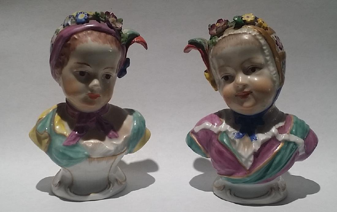 19th Century Royal Vienna Porcelain Child Busts