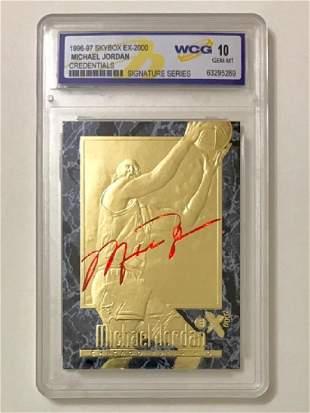MICHAEL JORDAN Signature 23k Gold Basketball Card