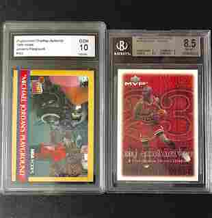Lot of 2 Graded MICHAEL JORDAN Basketball Cards