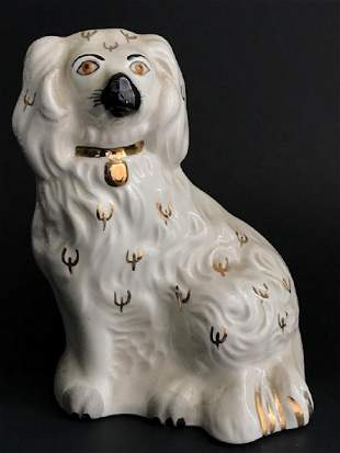 Rare Royal Crown Derby Harrods Porcelain Poodle