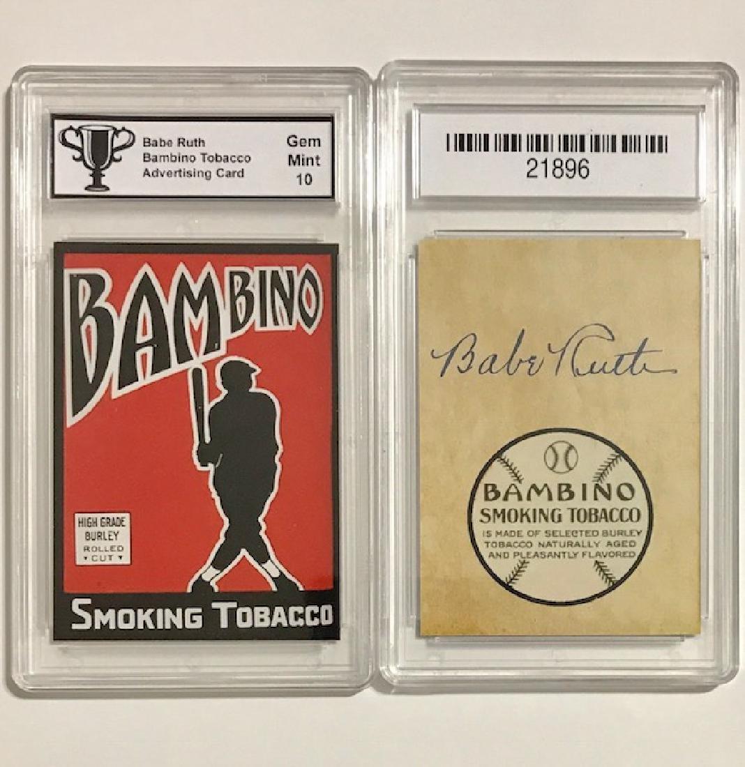 Rare Gem 10 BABE RUTH Advertising Baseball Card