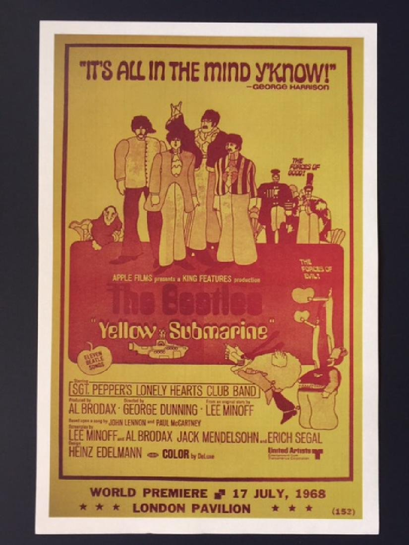 1960's The BEATLES Movie Theatre Lobby Card Poster