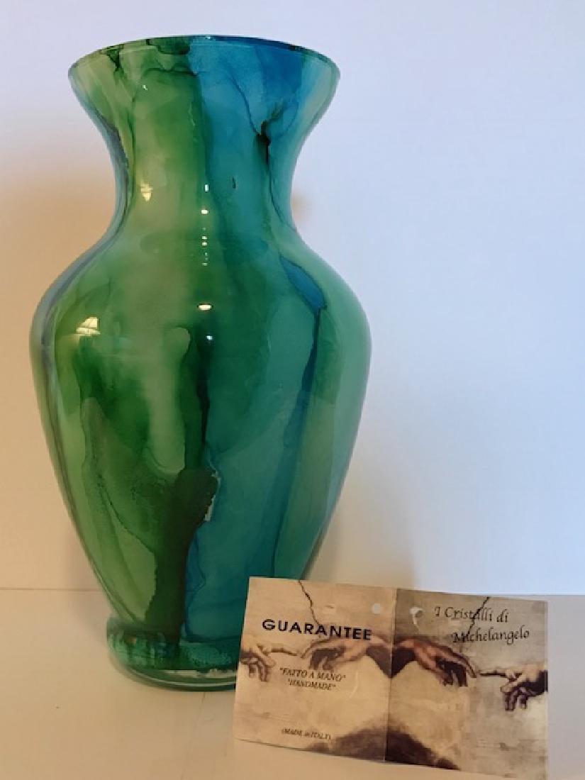 """CRISTALLI di MICHELANGELO"" Italian Art Glass Vase"