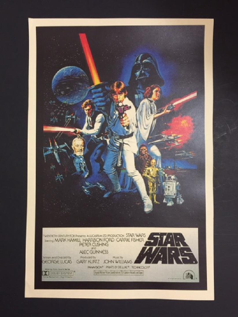 1977 STAR WARS Movie Theatre Lobby Card Poster