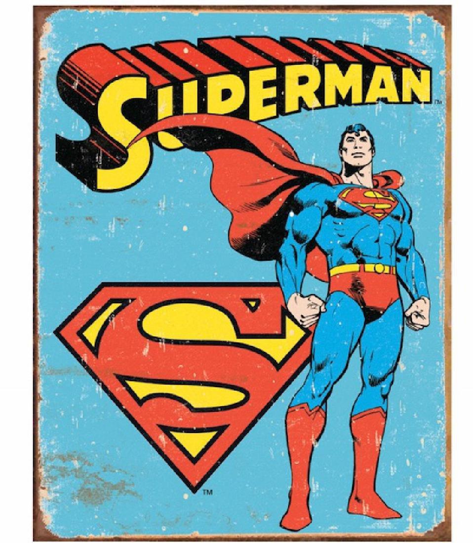 Original Comic Book Series SUPERMAN Metal Sign