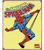Original Comic Book Series SPIDER MAN Metal Sign