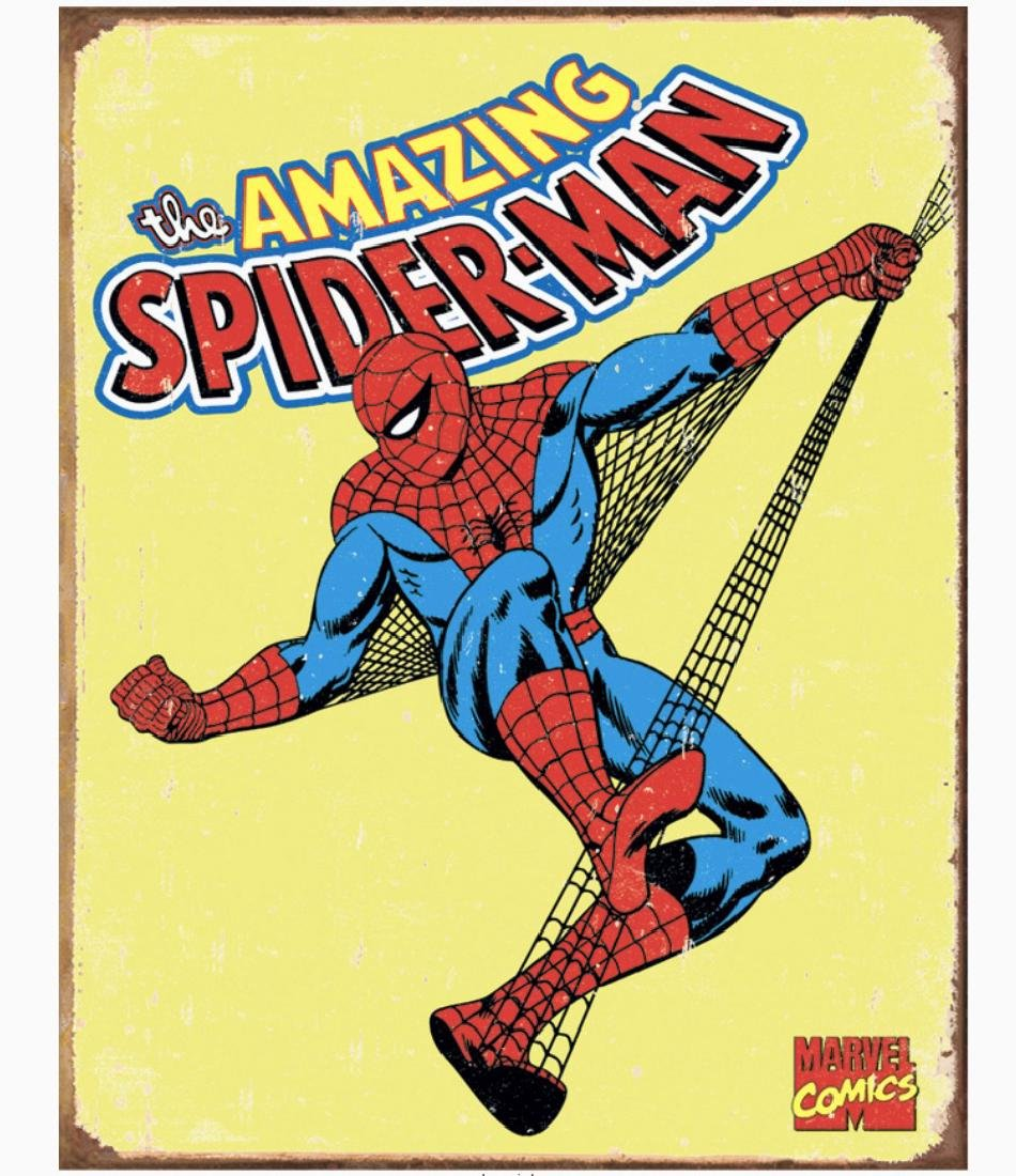 Original Comic Book Series SPIDER MAN Metal Sign