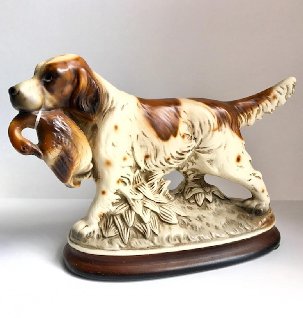 Artist Signed M. TAKAI Porcelain Hunting Dogs