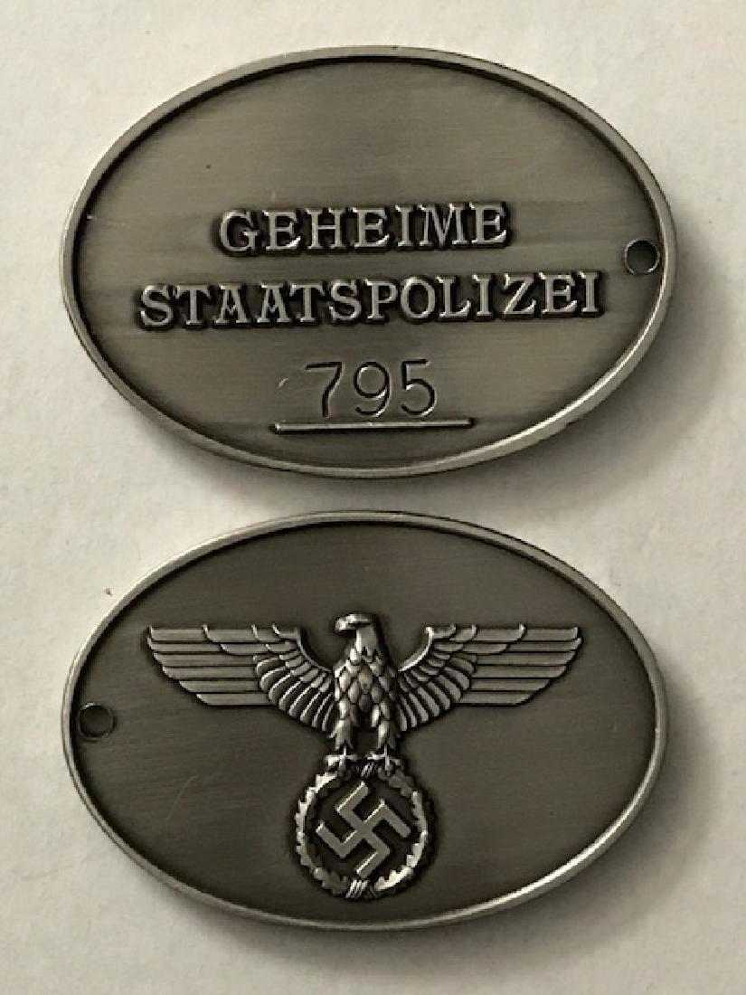 Nazi German Secret State Police Gestapo Badge