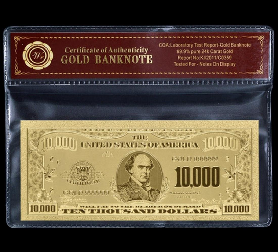 1928 Lab Tested $10,000 Gold Certificate Banknote