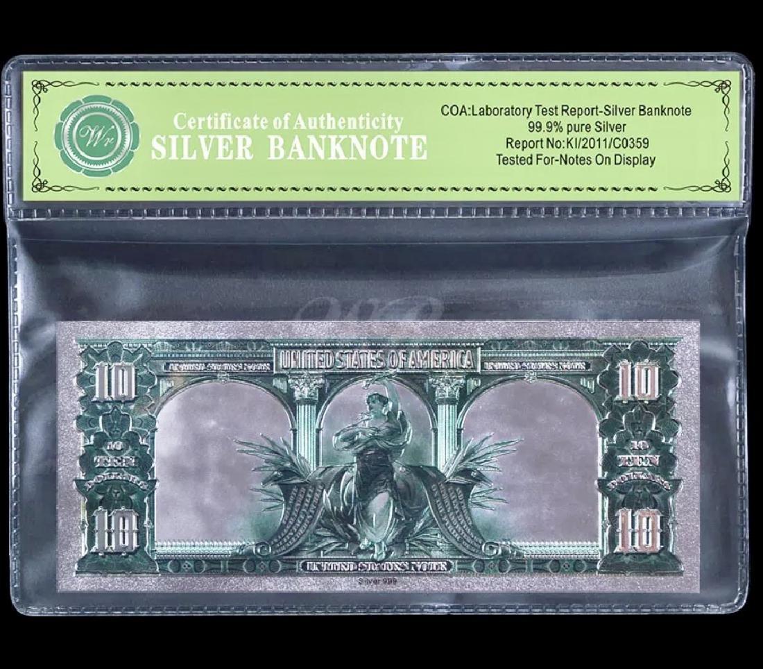 1901 – 99.9 % Silver Bison Banknote $10 Bill - 2