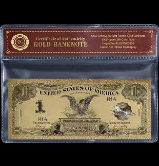 1899 Black Eagle $1 Silver Certificate Banknote