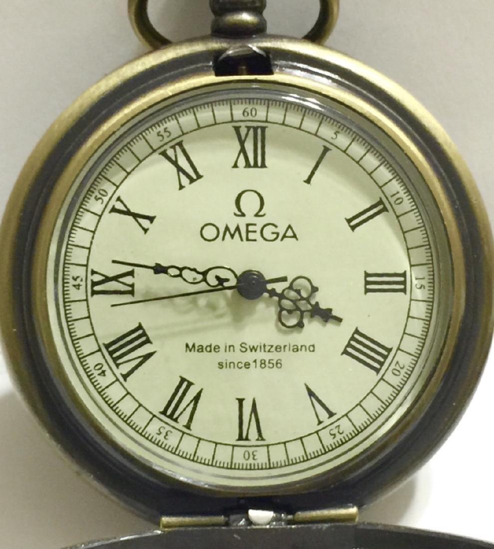Vintage OMEGA Swiss Made Mechanical Pocket Watch - 2