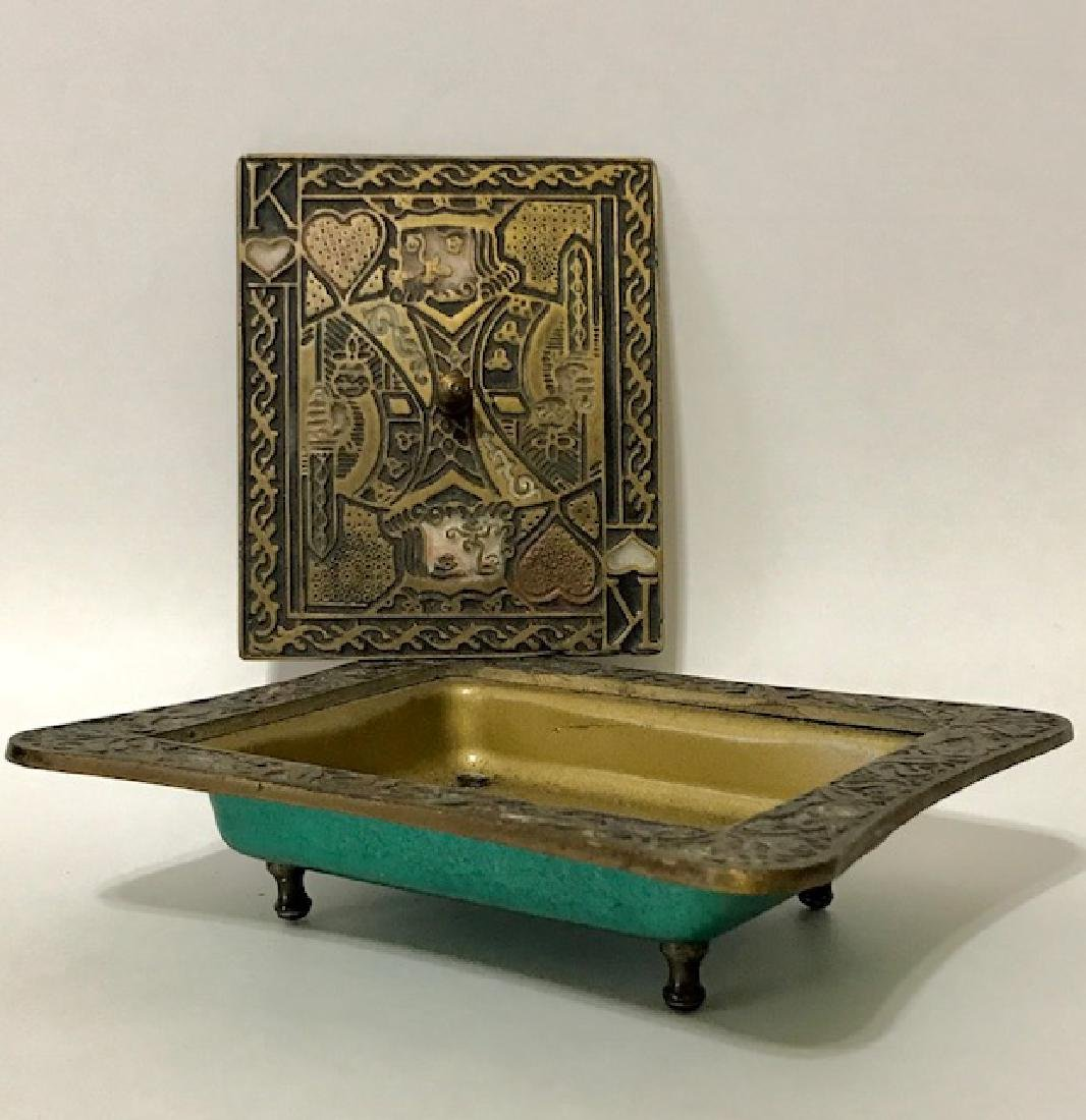 Old Made in Israel Enameled Brass Stash/Storage Box