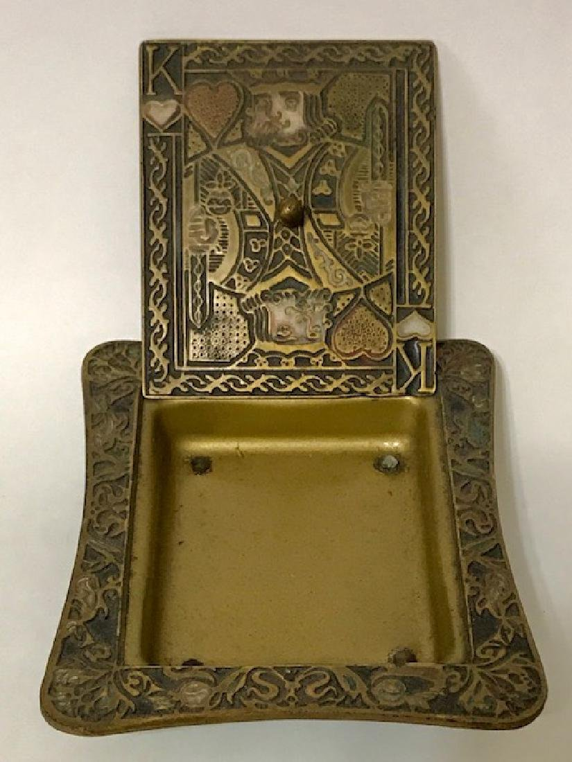 Old Made in Israel Enameled Brass Stash/Storage Box - 2