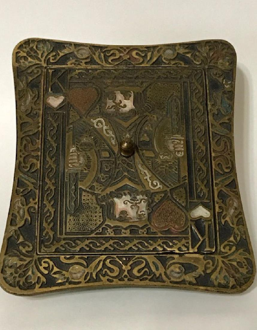 Old Made in Israel Enameled Brass Stash/Storage Box - 3