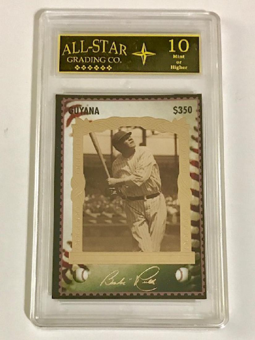 """Rare BABE RUTH """"Guyana"""" Baseball Card"""