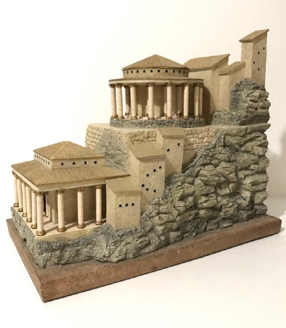 Rare Judaic CITADEL OF THE DEAD SEA Sculpture - 3