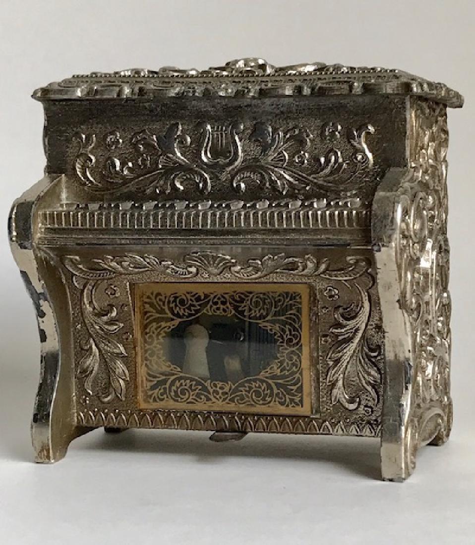 1950's Embossed Working Piano Music Box
