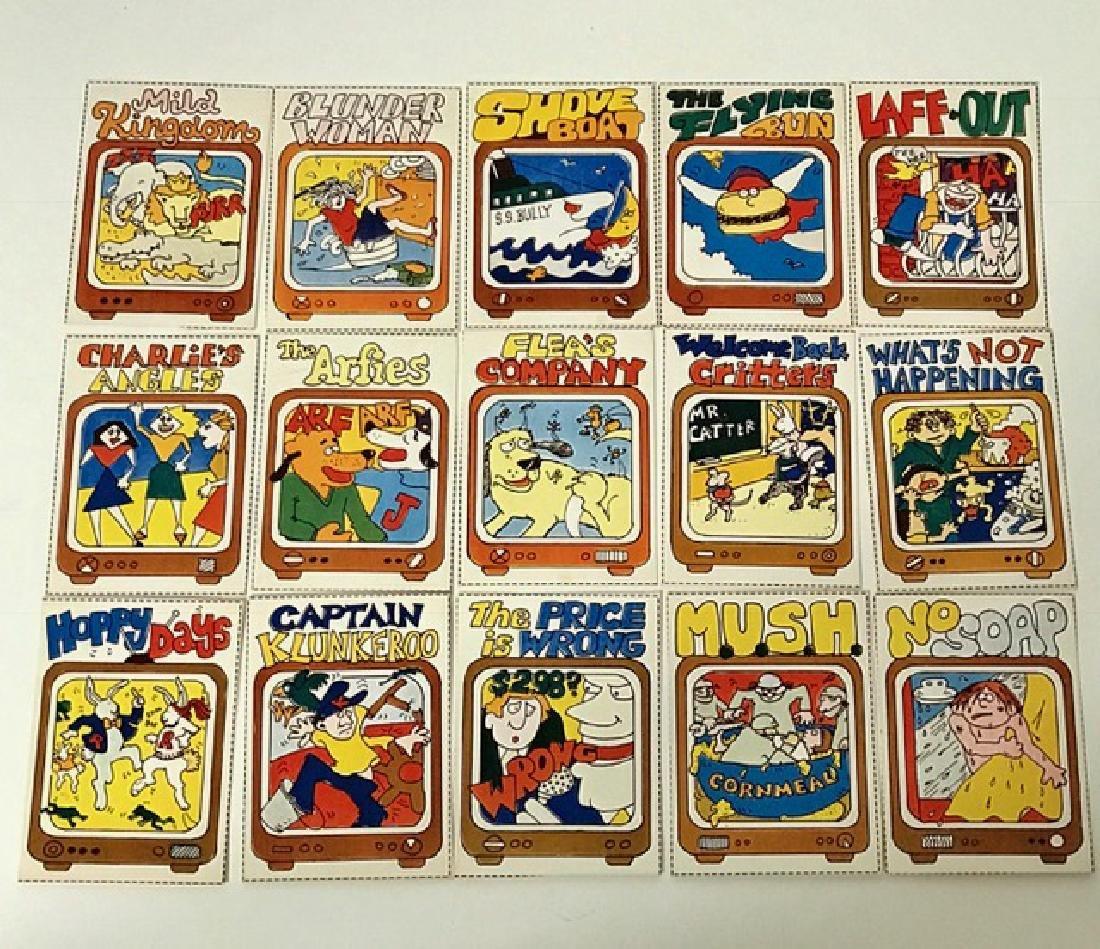 RARE Lot of 15 - 1978 Wacky TV Show Trading Cards