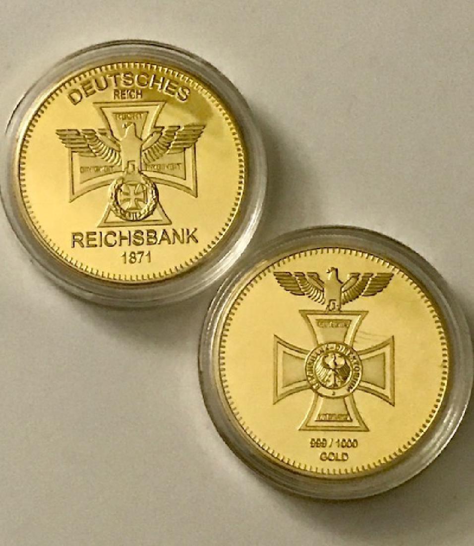 1oz German REICHSBANK .999/1000 Gold Clad Coin