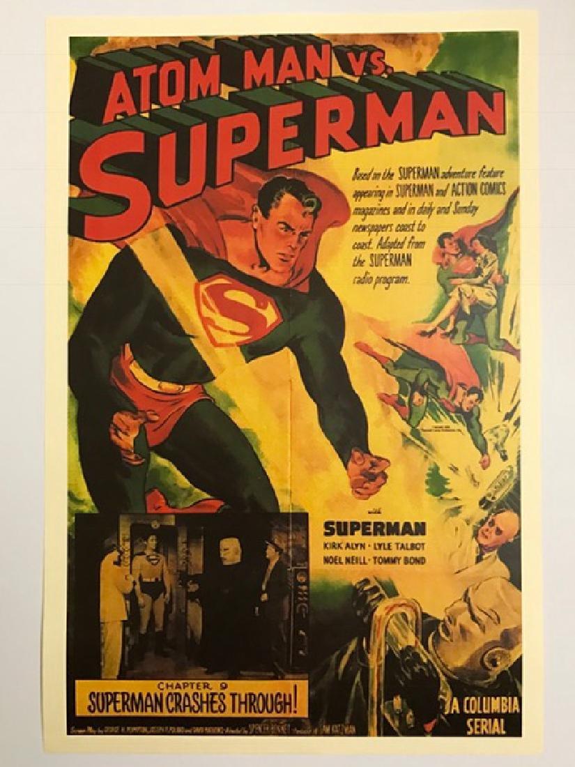 1940's SUPERMAN vs ATOM MAN Lobby Card Poster
