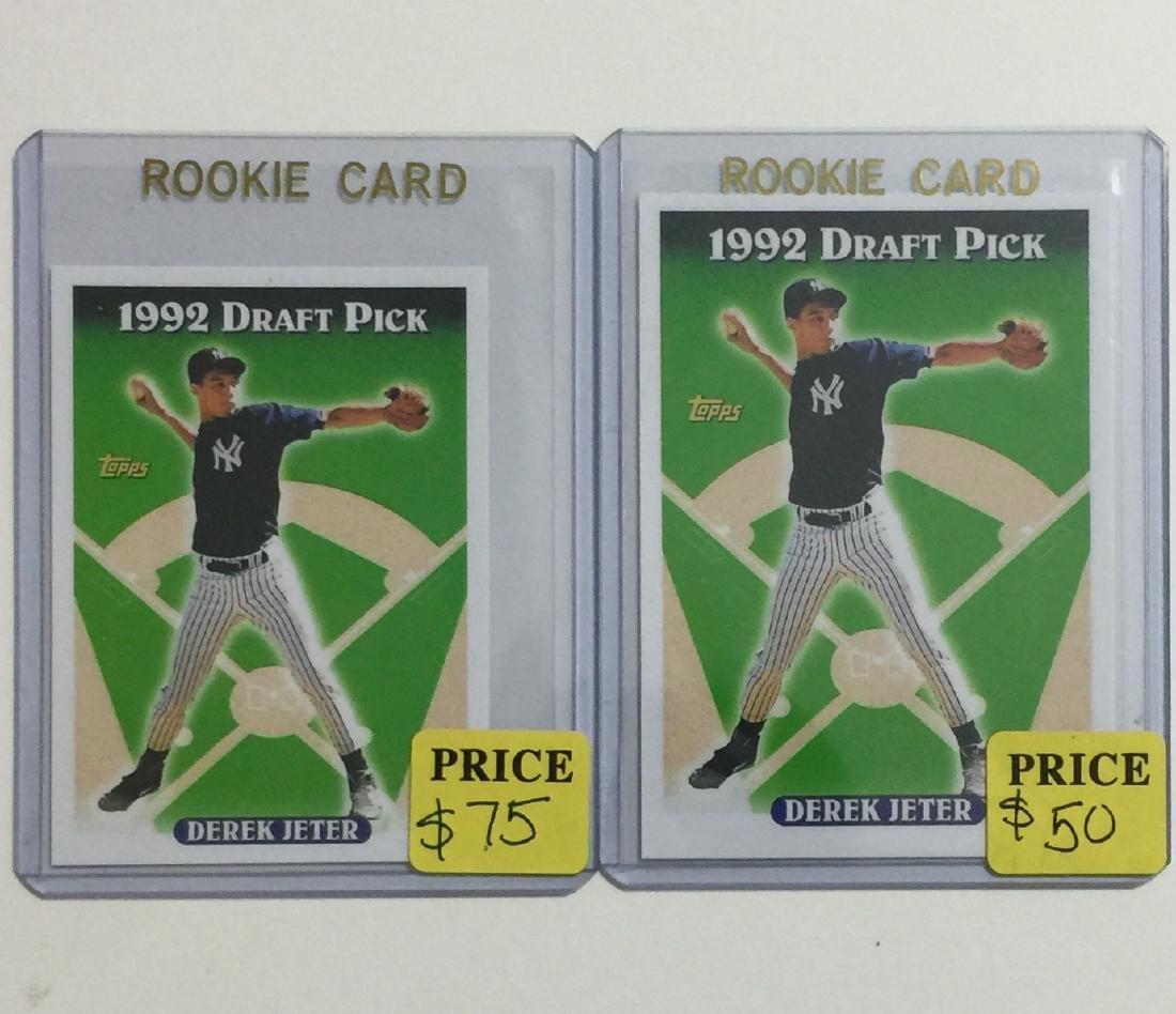 Pair of 1st DEREK JETER Rookie Baseball Cards/READ