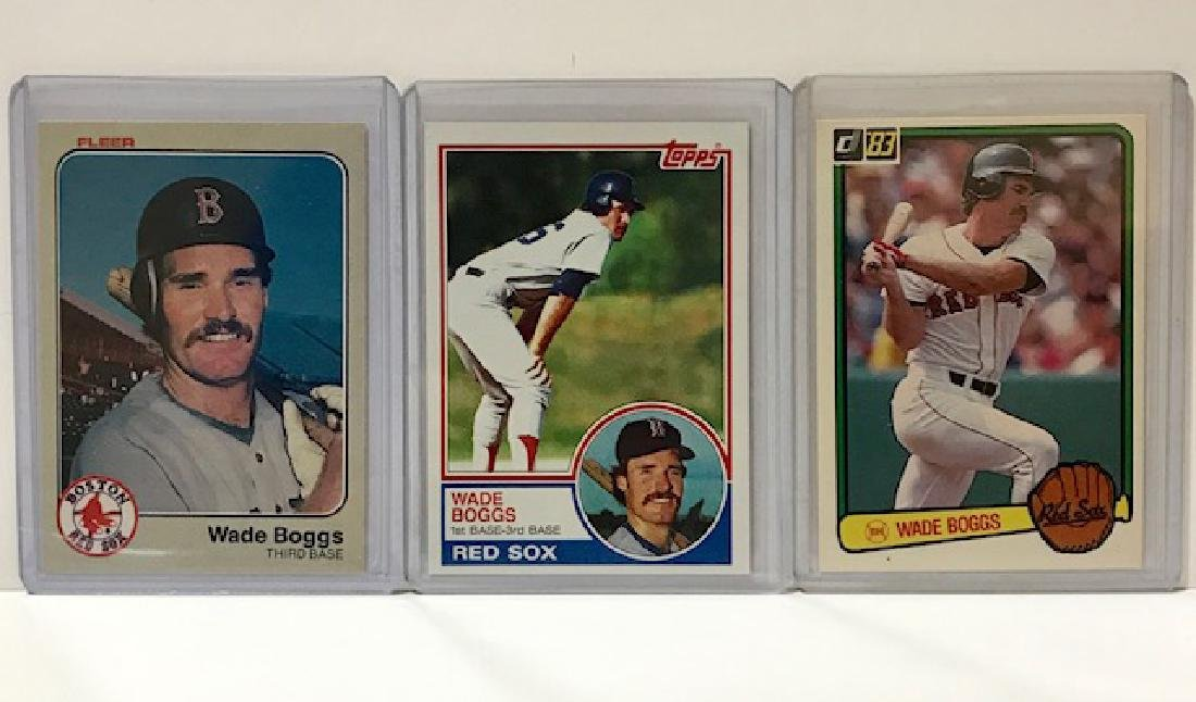 Lot of 3 Mint WADE BOGGS Rookie Baseball Cards