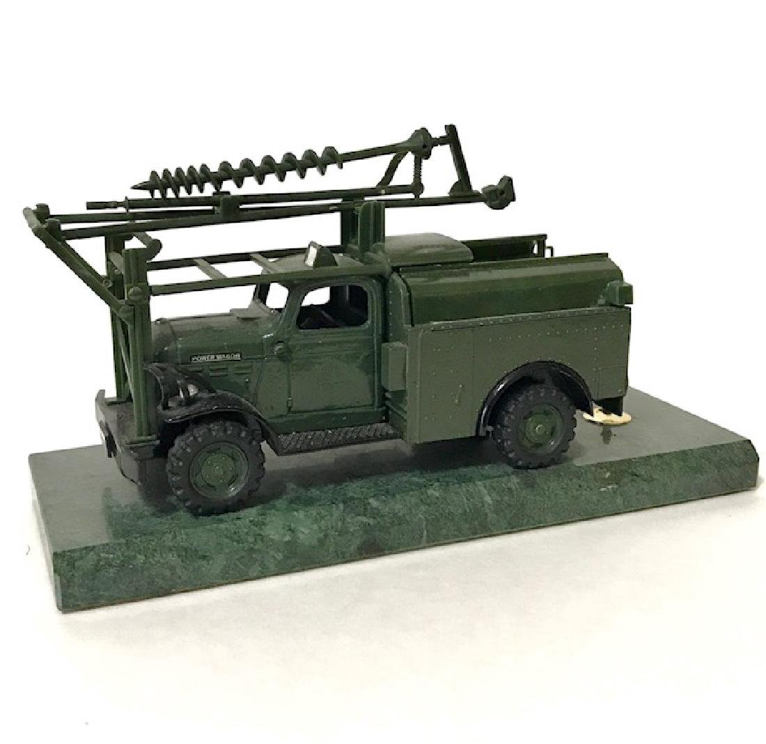 1950 Marble Based Military Truck Desk Pen Holder