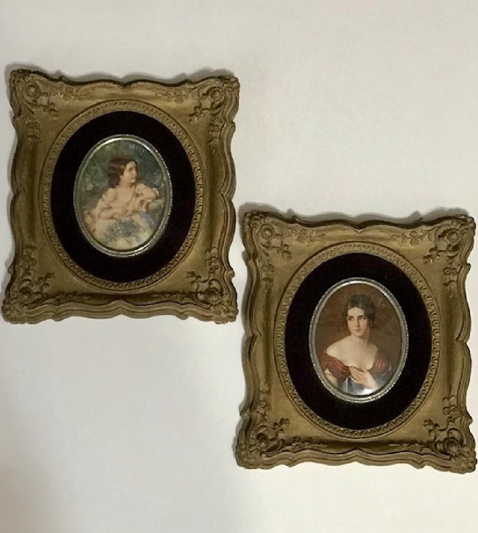 Lot of 2 Cameo Creation Framed Victorian Portraits