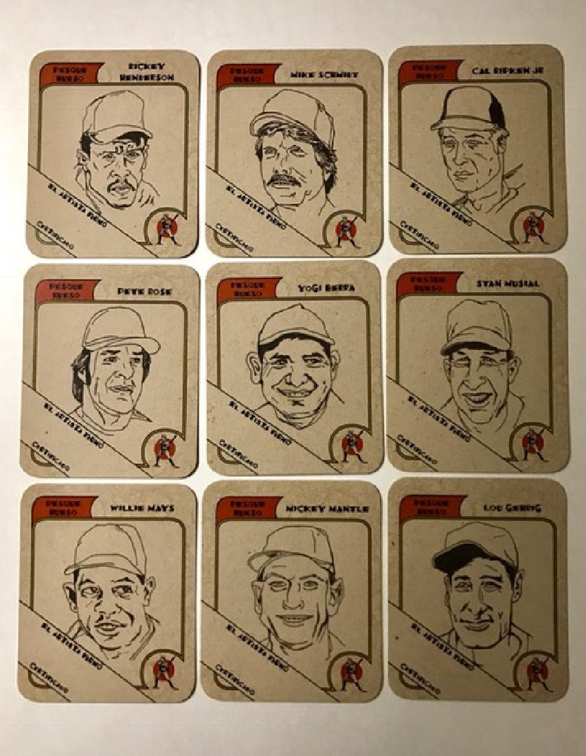 RARE Artist Proof Beer Advertising Baseball Cards