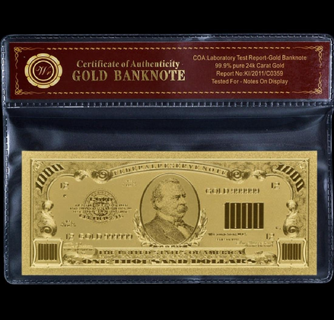 1928 Lab Tested $1,000 Gold Certificate Banknote