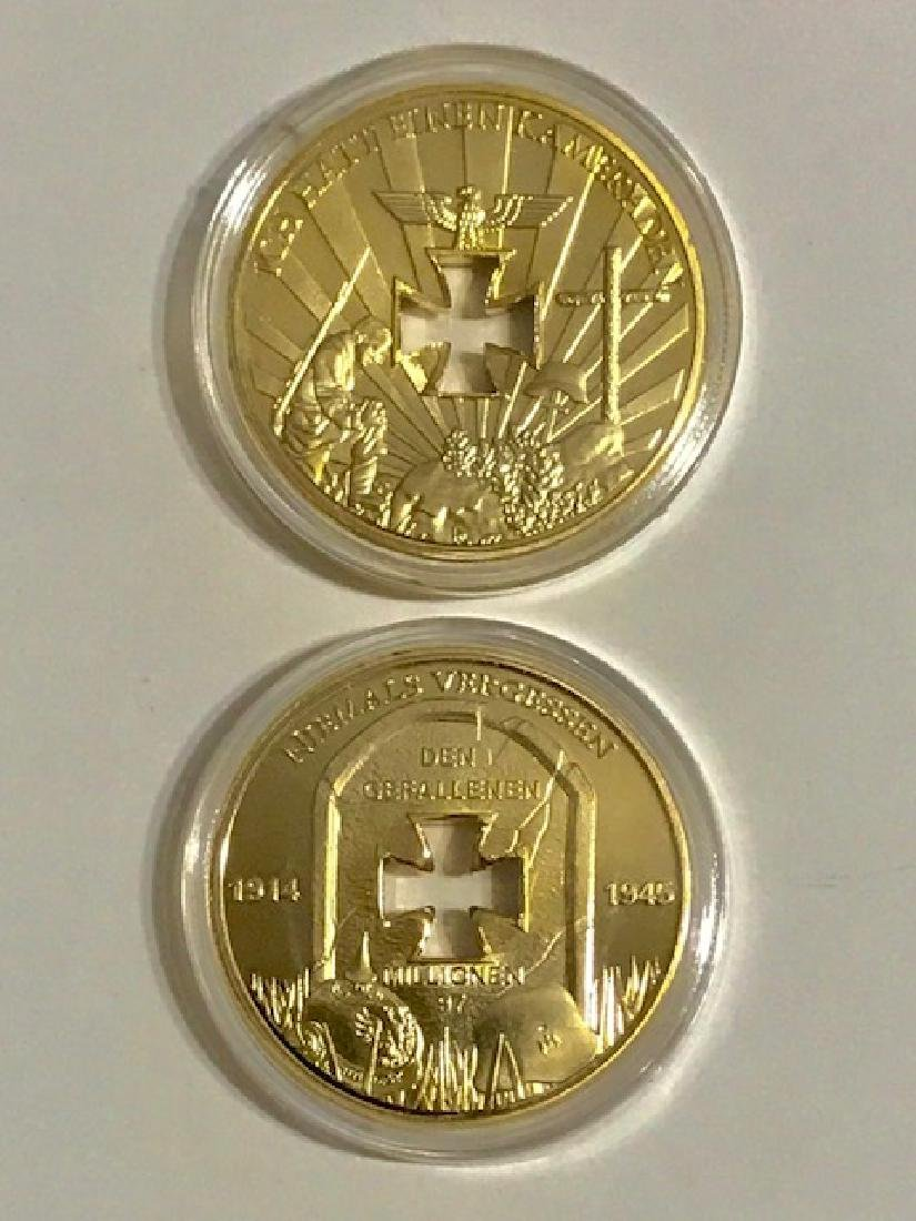 REICHSBANK German .999 Gold Clad Iron Cross Coin