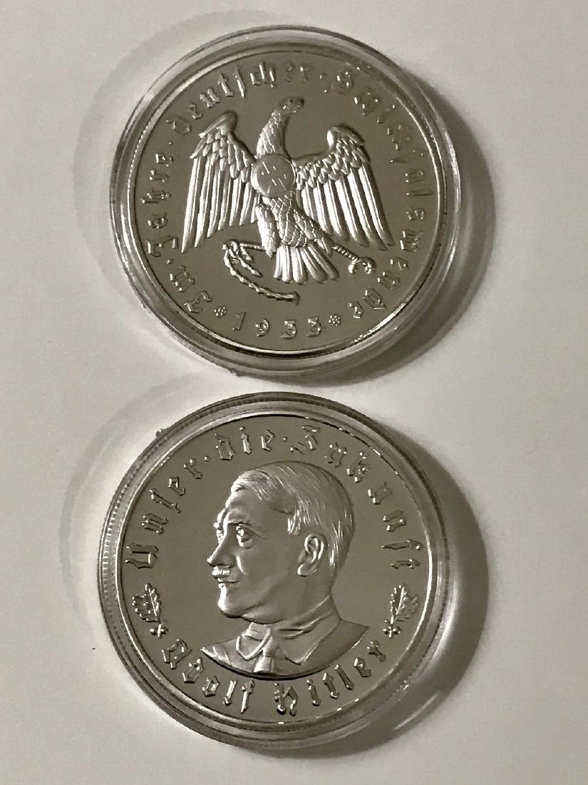 1933 Adolf Hitler German Capsuled Silver Clad Coin