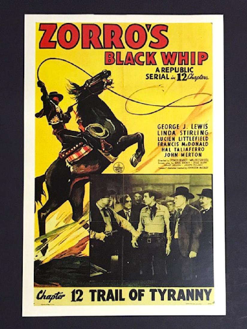 1944 ZORRO Trail of Tyranny Movie Lobby Poster