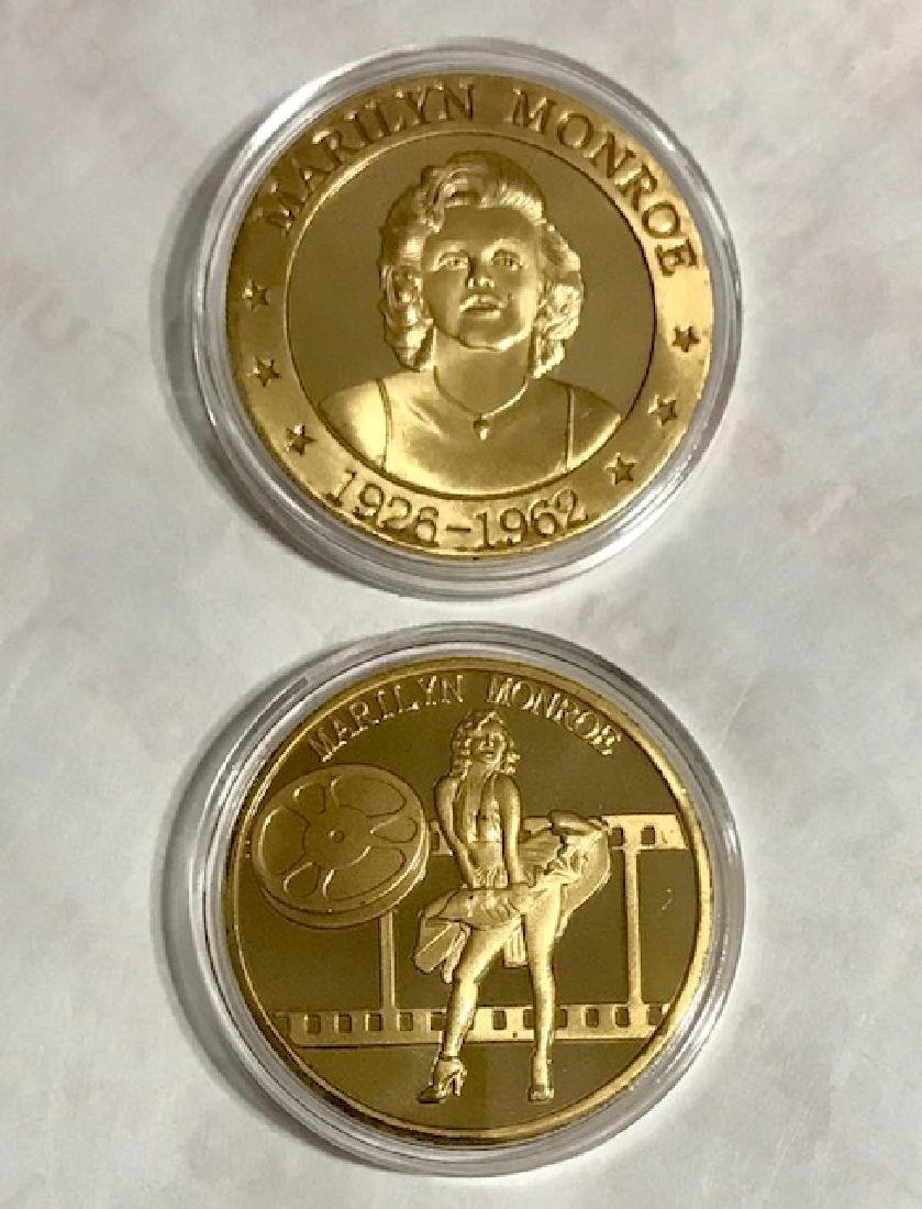 Rare MARILYN MONROE Gold Clad Tribute Coin