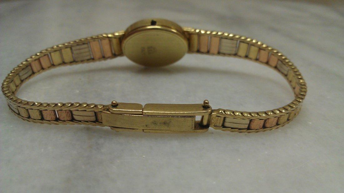 14K TRI COLOR GOLD GENEVA WATCH - 2
