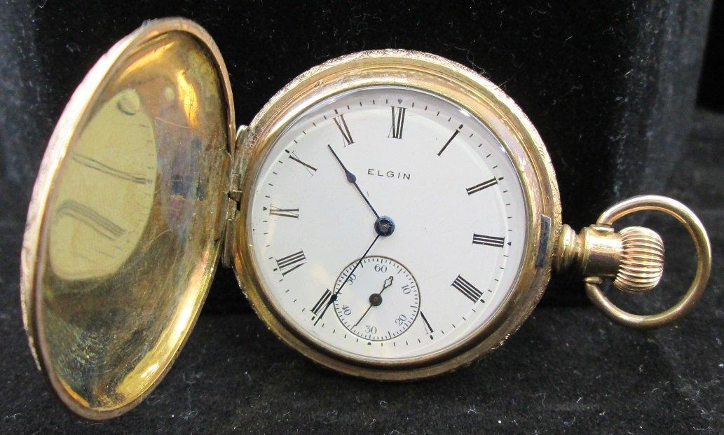 c.1890's Hunters Case Elgin Pocket Watch