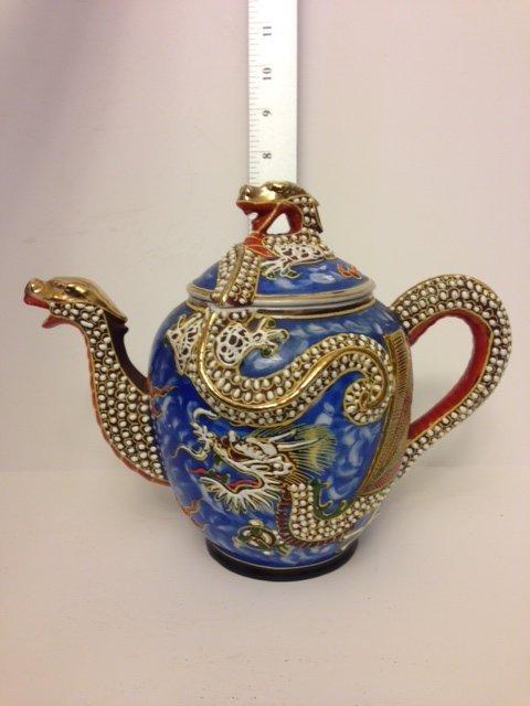 Large Hand Painted Japanese Dragon ware Tea Pot