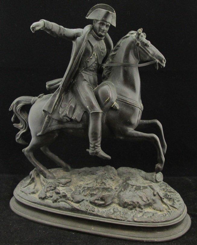 Vintage Signed Napolean on Horse Bronze Figure