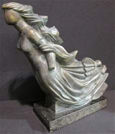 """Mario Carreño (Cuba) Orignal """"Mascaron"""" Bronze"""