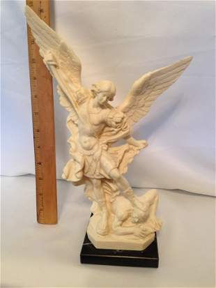 Large Genuine Signed A. SANTINI Italian Sculpture