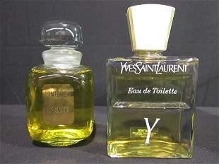 Lot of 2 Factice Perfume Bottles