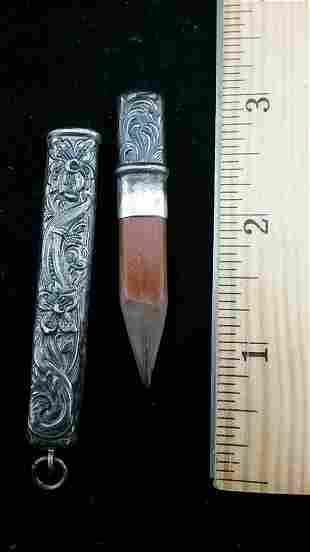 19th Century Sterling Silver Pocket Pencil