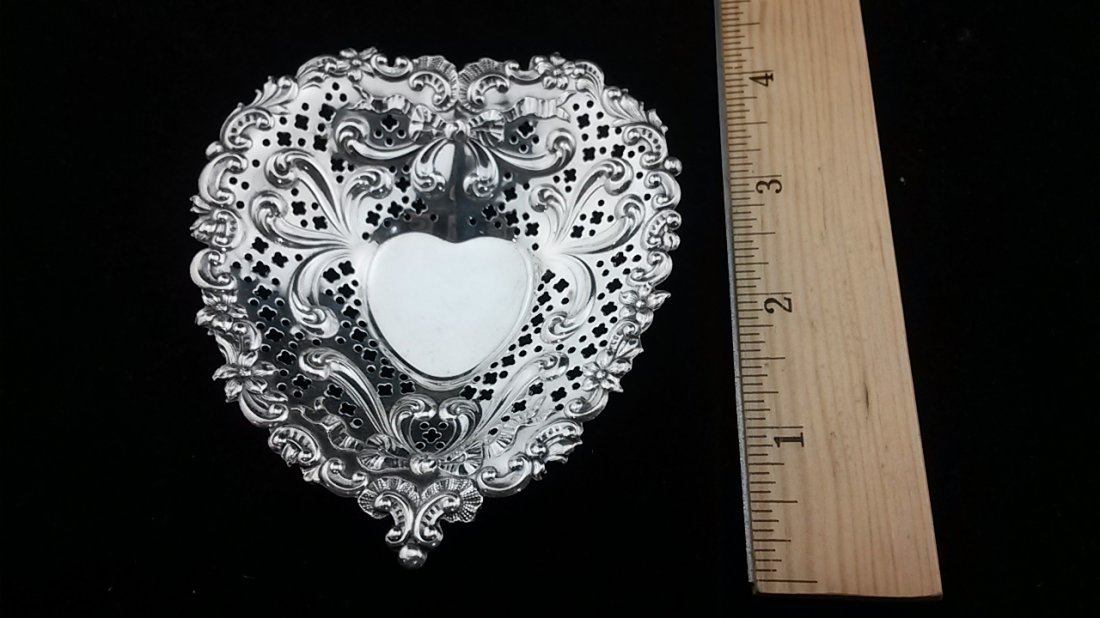 Heart Shaped Sterling Silver Gorham Ring Dish