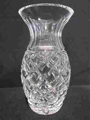 """WATERFORD Crystal 7"""" PINEAPPLE Shape Vase"""