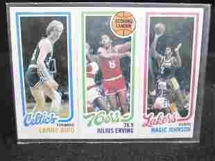 Larry Bird, Julius Erving & Magic Johnson Rookie