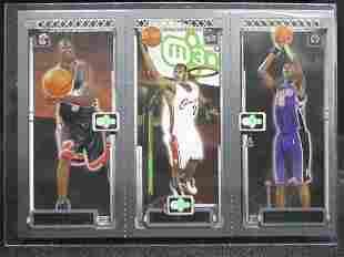Wade, James, & Bosh - Miami Heat Trio Rookie Card