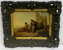 19th Century French Oil/Canvas Painting SIGNED